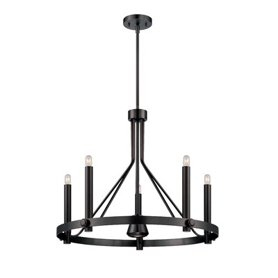 Telegraph 6-Light Candle-Style Chandelier Finish: Hazel Bronze