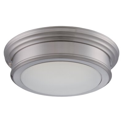 Suter 1-Light Flush Mount Finish: Brushed Nickel