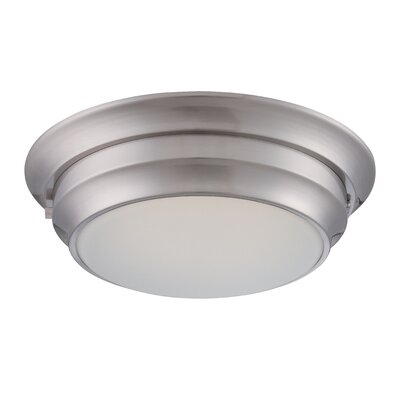 Sutliff 1-Light Flush Mount Finish: Polished Nickel