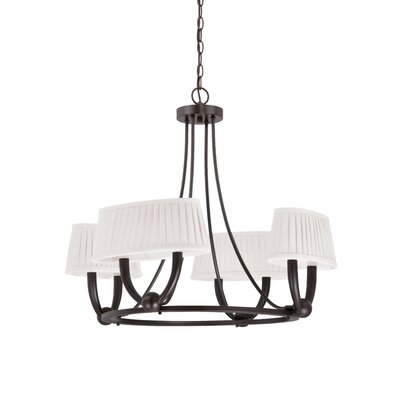 Kent 4-Light Shaded Chandelier Finish: Copper Espresso