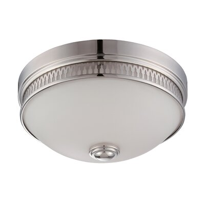 Harper 1-Light Flush Mount Finish: Polished Nickel