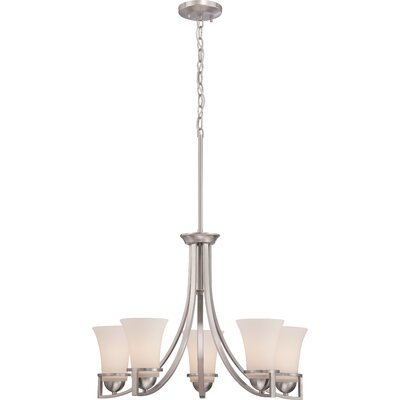 Collin 5-Light Shaded Chandelier Finish: Brushed Nickel