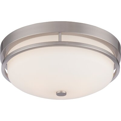 Collin 2-Light Flush Mount Finish: Brushed Nickel