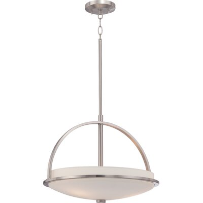 Collin 3-Light Pendant Finish: Brushed Nickel