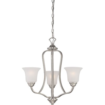 Elizabeth 3-Light Shaded Chandelier Finish: Brushed Nickel