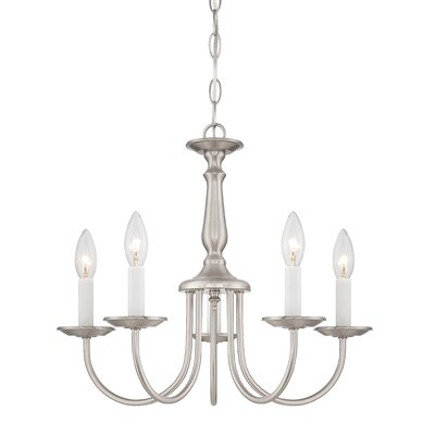 Bibbins 5-Light Candle-Style Chandelier Finish: Brushed Nickel