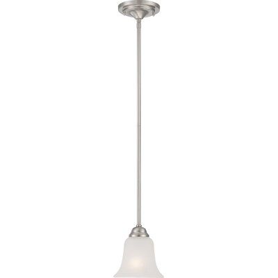 Elizabeth 1-Light Mini Pendant Finish: Brushed Nickel