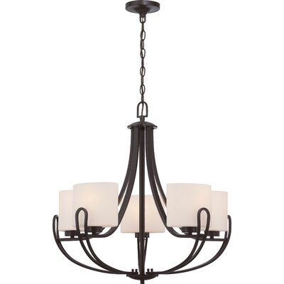 Lola 5-Light Shaded Chandelier Finish: Georgetown Bronze