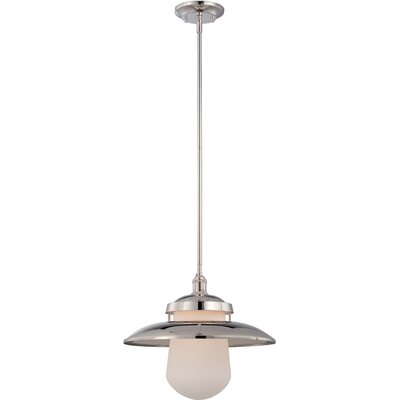 Bayport 1-Light Pendant Finish: Polished Nickel, Size: 48.13 H x 10 W
