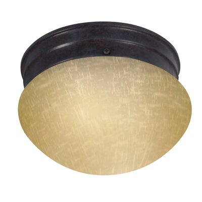 Yancy 1-Light Flush Mount Size: 5 H x 8 W x 7.5 D, Feature: Energy Star, Shade Color: Champagne
