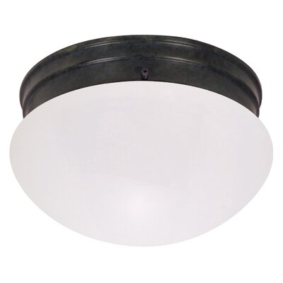 Mushroom 2-Light Flush Mount Shade Color: White
