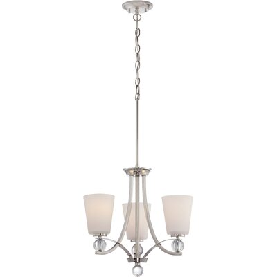 Gace 3-Light Shaded Chandelier