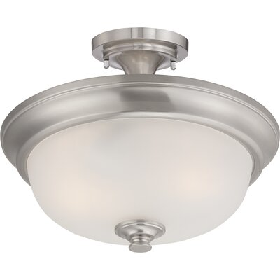 Hardin 2-Light Semi Flush Mount Finish: Brushed Nickel