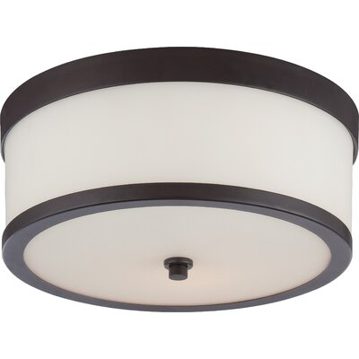 Triangulum 2-Light Flush Mount Finish: Venetian Bronze