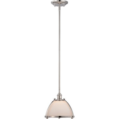 Sagamore 1-Light Mini Pendant Size: 48.13 H x 9.13 W