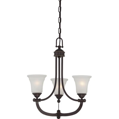 Monroe 3-Light Shaded Chandelier
