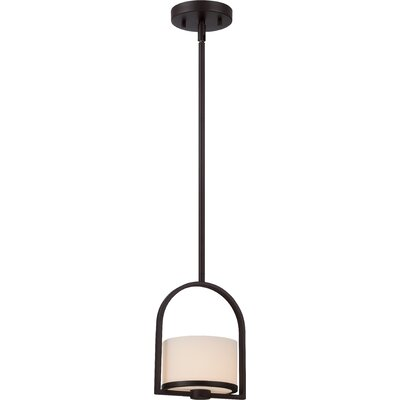 Triangulum 1-Light Mini Pendant Finish: Venetian Bronze