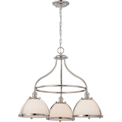 Sagamore 3-Light Shaded Chandelier Finish: Polished Nickel