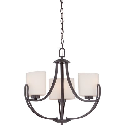 Fenderson 3-Light Shaded Chandelier Finish: Georgetown Bronze
