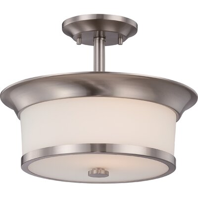Mobili 2-Light Semi Flush Mount Finish: Brushed Nickel