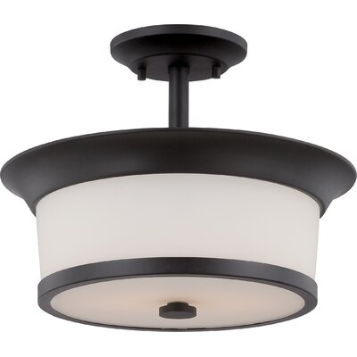 Mobili 2-Light Semi Flush Mount Finish: Aged Bronze