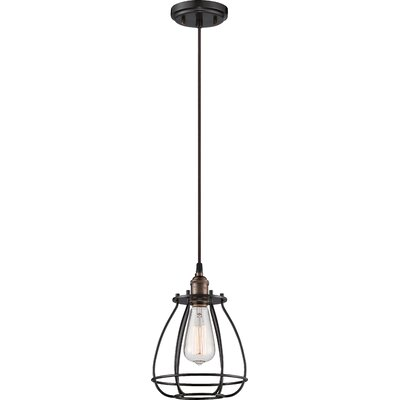 Vintage 1-Light Mini Foyer Pendant Finish: Rustic Bronze