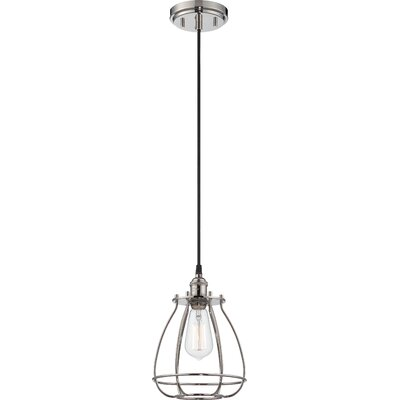 Vintage 1-Light Mini Foyer Pendant Finish: Polished Nickel