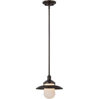 Bayport 1-Light Pendant Finish: Aged Bronze, Size: 51.5 H x 15 W x 11.5 D