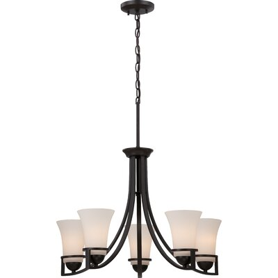 Collin 5-Light Shaded Chandelier Finish: Sudbury Bronze