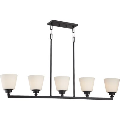 Woodbridge 5-Light Island Pendant Finish: Aged Bronze