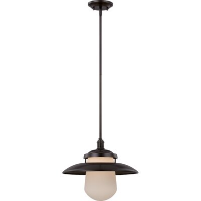 Bayport 1-Light Pendant Size: 48.13 H x 10 W, Finish: Aged Bronze