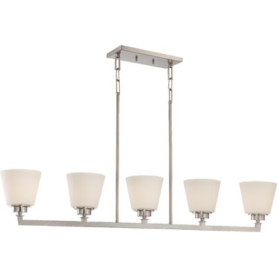 Woodbridge 5-Light Island Pendant Finish: Brushed Nickel