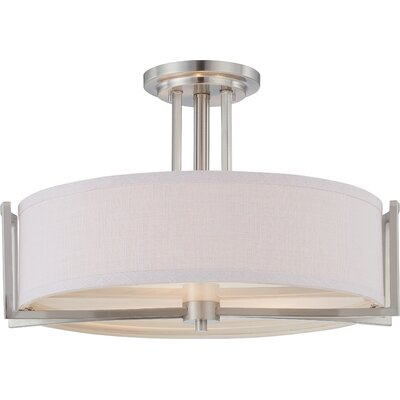 Bouley 3-Light Semi Flush Mount