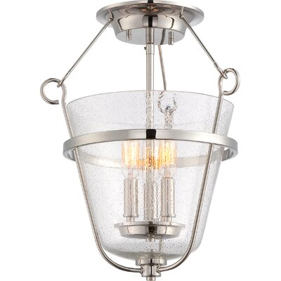 Latham 3-Light Semi Flush Mount Finish: Polished Nickel