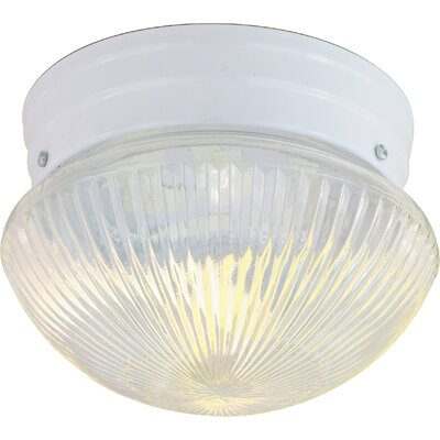 Daughtrey 2-Light 60W Flush Mount Finish: White