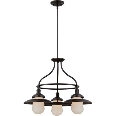 Bayport 3-Light Shaded Chandelier Finish: Aged Bronze