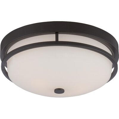 Collin 2-Light Flush Mount Finish: Sudbury Bronze