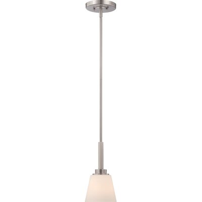 Woodbridge 1-Light Mini Pendant Finish: Brushed Nickel