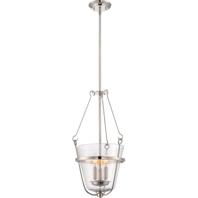 Latham 3-Light Pendant Finish: Polished Nickel
