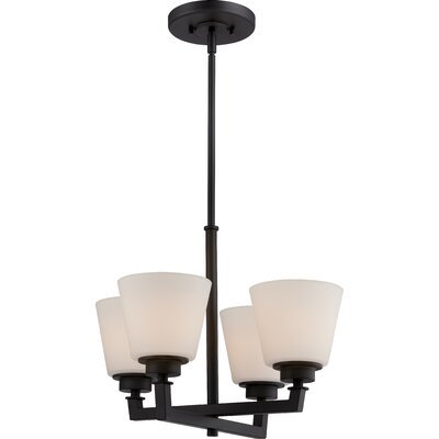 Woodbridge 4-Light Shaded Chandelier Finish: Aged Bronze