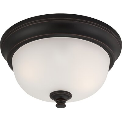 Hardin 2-Light Flush Mount Finish: Sudbury Bronze