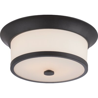 Woodbridge 2-Light Flush Mount Finish: Aged Bronze