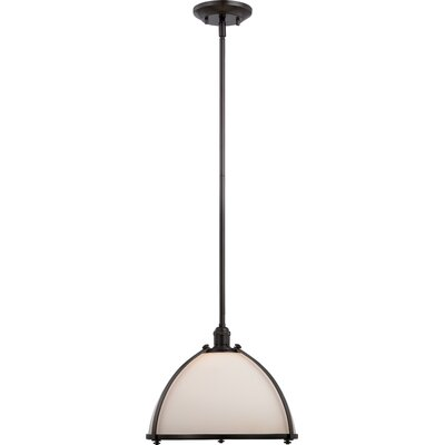 Sagamore 1-Light Bowl Pendant Size: 48.38 H x 13 W