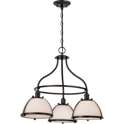 Sagamore 3-Light Shaded Chandelier Finish: Aged Bronze