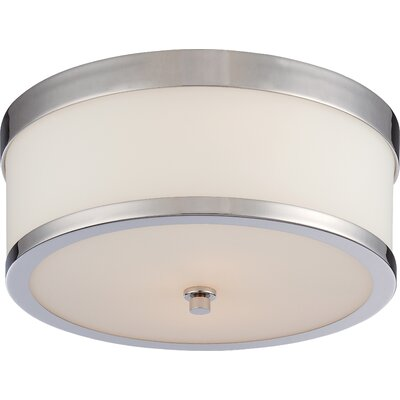 Triangulum 2-Light Flush Mount Finish: Polished Nickel