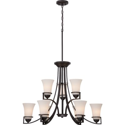 Collin 9-Light Shaded Chandelier Finish: Sudbury Bronze