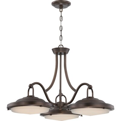 Sawyer 3-Light Dinette Pendant Finish: Antique Brass