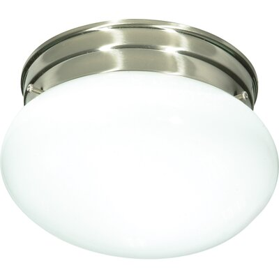 Janice 1-Light Flush Mount Finish: Brushed Nickel