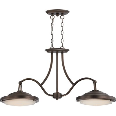 Sawyer 2-Light Kitchen Island Pendant Finish: Antique Brass