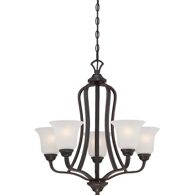 Hardin 5-Light Shaded Chandelier Finish: Sudbury Bronze
